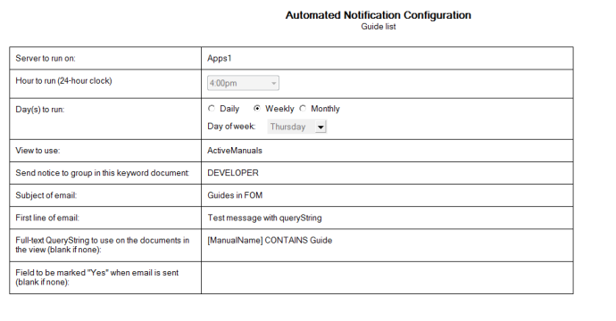AutoNotify Configuration