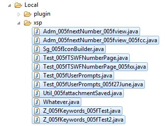 Vestigal Java Files